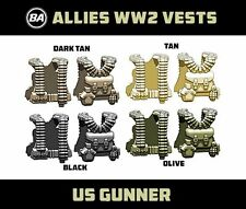 Brickarms US GUNNER VEST WW2 for Custom Lego Minifigures -Pick your Color!-