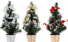 Pretty 30cm Mini Desk Top Table Top Decorated Christmas Tree with Bows & Baubles