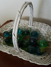 VINTAGE MODERN BLUE GREEN LUCITE ACRYLIC DRIFTWOOD GRAPE CLUSTER CENTERPIECE