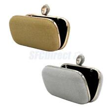 Fashion Evening Party Clutch Purse Wallet Handbag Shoulder Chains Gold/Silver