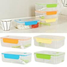 Microwave Plastic Portable Clear Bento Lunch Box Food Container Storage New