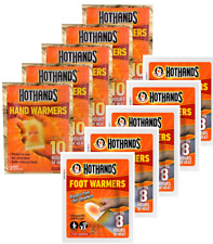 Hot Hands Hothands Hand Feet Foot Toe Insole Heat Warming Warmer Raynauds Pack