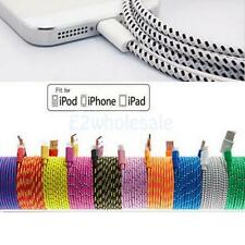 Braided USB Cable Data Sync Charger Cord for iPhone 7 6 6S Plus iPhone 5 5S 5C