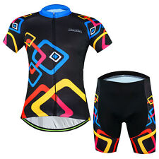 Summer Men Quick Dry Cycling Jersey Set Bike Bicycle Short Sleeve Jersey Shorts