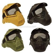 Tactical Full Face Safety Mask Airsoft ABS Metal Mesh Goggles Protection Mask UK