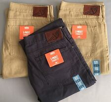 GENUINE DOCKERS 5-POCKET STRAIGHT FIT FLAT FRONT (D2) JEANS/ PANTS/CHINOS