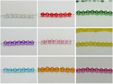 500 Transparent Acrylic Faceted Bicone Spacer Beads 6X6mm Pick Your Color
