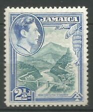 Jamaica 1938-52 MLH/OG SG 125 KGVI 2½d mint greenish-blue ultramarine mint CV £8