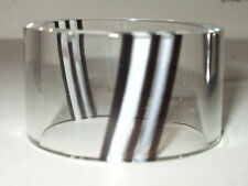 Set of 4 x Napkin Holders - Caithness Crystal in a Black and White Pattern