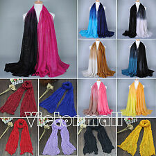 Ladies Womens Fashion Shade Pashmina Scarf Stole Shawl Wrap Soft Voile Scarves