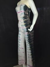 NWT $164 Hard Tail Tie Dye Stretchy Flare Ruched Waist Bootleg Flare Pants S, XS