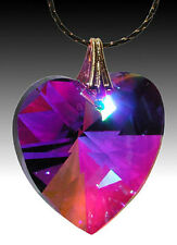 HEART 40mm Swarovski Austrian Crystal Blue Violet AB Purple Prism Suncatcher