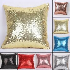 Solid Color Glitter Sequins Throw Pillow Case Cafe Home Decor Cushion Cover XMAS