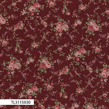 Lecien-Antique Rose Small Red Floral 31150-30 by the metre fabric by Lecien