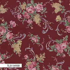 Lecien-Antique Rose Red Ribbon 31149-30 by the metre fabric by Lecien/Quilting