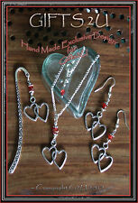 ��LADIES GIFT:��Love Heart Jewellery; Silver Plated Necklaces,Earrings,Bookmarks