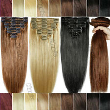 Thick Double Wefted Clip in 100% Remy Human Hair Extensions Full Head 250G U609