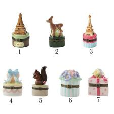 Fashion Lovely Painted Ceramics Jewelry Ring Pendant Box Necklace Storage