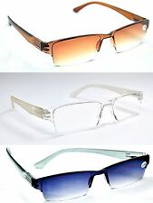 3 Pairs MIXnMATCH Spring Hinged Sunreaders & Reading Glasses+1.0+1.5+2.0+2.5MT60