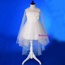 Tiered Tulle Flower Girl Dress Up Wedding Pageant Birthday Party Size 2-9 FG339