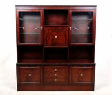 Bookcase Mahogany Glass Glazed Display Cabinet Cocktail Cabinet Large Antique Vi