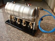 New Hot Air Steam Engine Model Tank with 4 Glass Alcohol Burner GL-002