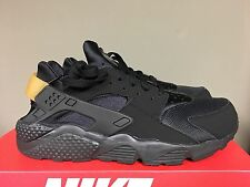 Nike Air Huarache Black Gold Pack Mens Running Sneakers 318429-025 SHIPPING NOW
