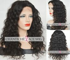 Best Malaysian Curly Wig 6A Remy Human Hair Silk Top Lace Front Wigs Black Women