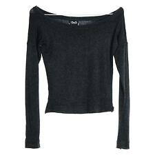DOLCE AND GABBANA Womens Designer Grey Stretch Sweater Jumper Top Small S