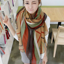 Fashion Women Long Print Cotton Scarf Wrap Ladies Shawl Girls Large Silk Scarves