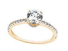 Natural 0.75Ct Round Cut Diamond Bridal Engagement Ring Solid 14k Gold I SI2