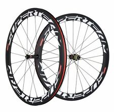 700C Road Bike Wheels 50mm Clincher Bicycle 23mm Wide Complete Carbon Wheelset