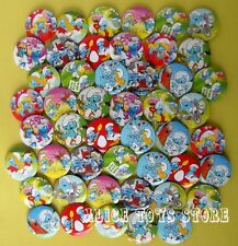 The Smurfs Village 45mm Mixed Lot Badges Pin Buttons FOR PARTY CLOTH BAG