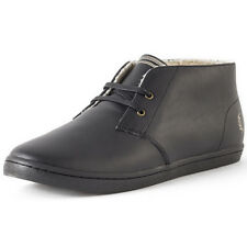 Fred Perry Byron Mens Chukka Boots Black Grey New Shoes