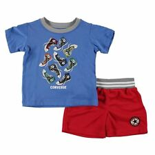 Converse Boys Blue/Red T-Shirt/Shorts 2-Piece Outfit/Set - BNWT - 12 months