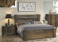 OWEN  SOLID HARDWOOD QUEEN SIZE OR KING SIZE BED FRAME - PANELED BED STYLE