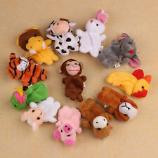 12Pcs Chinese Zodiac Soft Animal Hand Puppet Finger Toys PLush For Baby's Gift