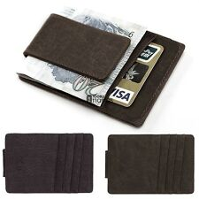 New Mens PU Leather Money Clip Slim Wallets ID Credit Card Holder Bifold AN18