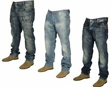 MENS NEW CIPO & BAXX DENIM JEANS STRAIGHT LEG & SLIM FIT IN BLUE WASH COLOURS