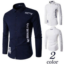 Mens Linen Luxury Business Stylish Slim Fit Long Sleeve Casual Leisure Shirt top