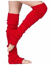 Leg Warmers Thigh High Stretch Knit Ribbed 28 Inch Leg Warmers High Quality KD d