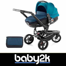 Jane Trider Matrix Light 2 Travel System Lie Flat Car Seat Pushchair Teal Blue