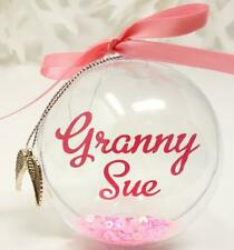Personalised Christmas Bauble Tree Decoration Name Mum Child Nan gift present