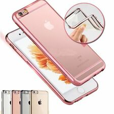 Glossy Metal Plating Silicone TPU Case Cover Skin for Apple iPhone 6 6s 4.7/Plus