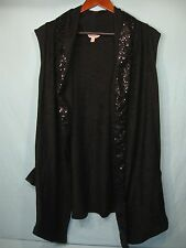 NWT Juicy Couture Sleeveless Black Womens Sweater with Sequin Accents