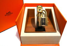 AUTHENTIC HERMES KELLY 18K Gold Plated Gold Dial Cadenas Lock Watch