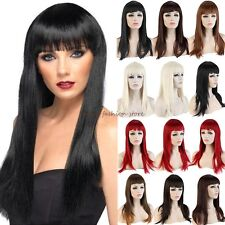 UK Post Long Straight Wigs Full Hair Cosplay Party Daily Fancy Dress For Women