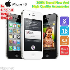 Apple iPhone 4S 16GB 8MP Unlocked Smartphone Free Acces+ Warranty--Black White