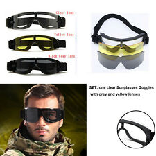 Safety Tactical USMC Airsoft X800 Sunglasses Eye Glasses Goggles Cycling Riding