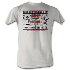 ROCKY T-shirt Rocky Balboa vs. Clubber Lang Movie Tee Adult L,XL,2XL White New
